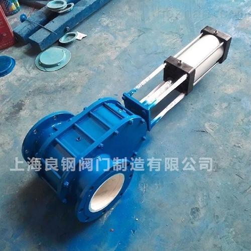 Z644TC氣動耐磨陶瓷出料閥