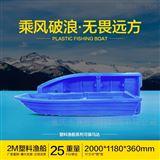2米渔船双层2米小渔船 PE塑料农家乐平头船