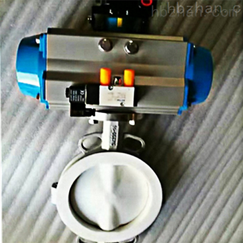 D671F46-气动对夹式衬氟蝶阀