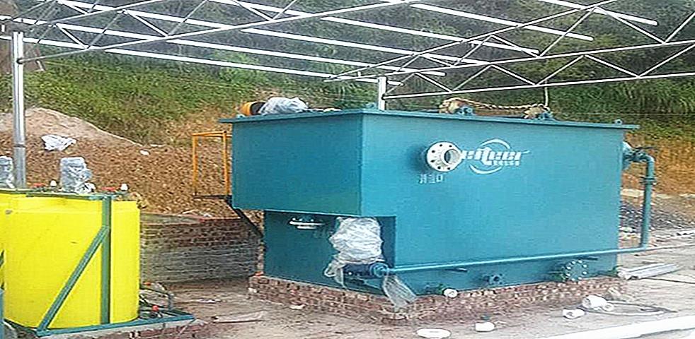 豆制品加工污水处理设备运行现场