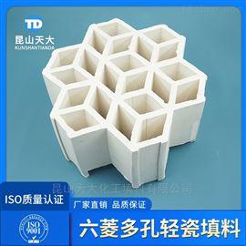 焦化厂轻瓷填料七孔带筋环