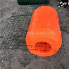 海上拦污浮筒 中间铺钢丝网的浮筒