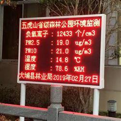 全天候LED大屏显示负氧离子浓度监测系统
