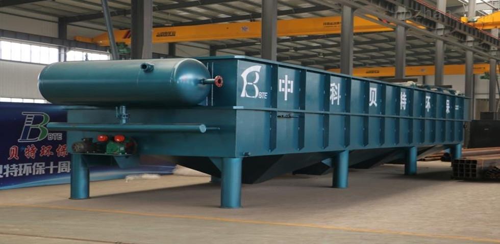 菏泽日处理20立方塑料颗粒清洗废水气浮机运行现场