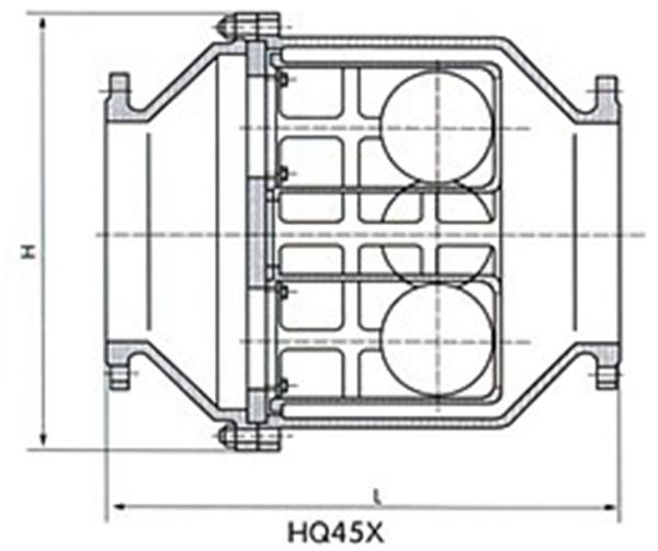 HQ45X微阻球形止回阀图