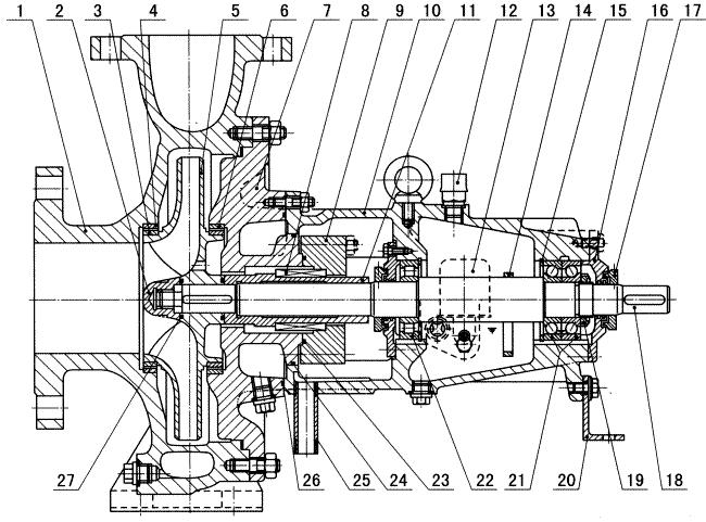ZA石油流程泵结构图