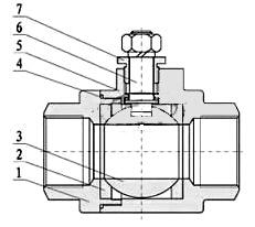 二片式气动球阀(阀体)