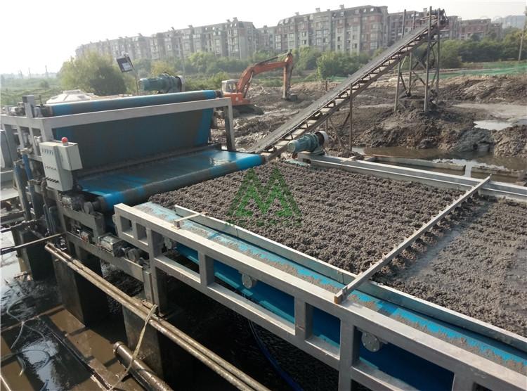 中山洗河沙污泥脱水机