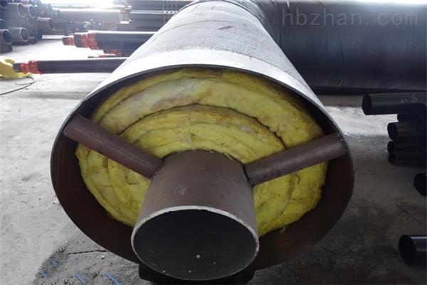 陇南蒸汽钢套钢预制直埋保温管