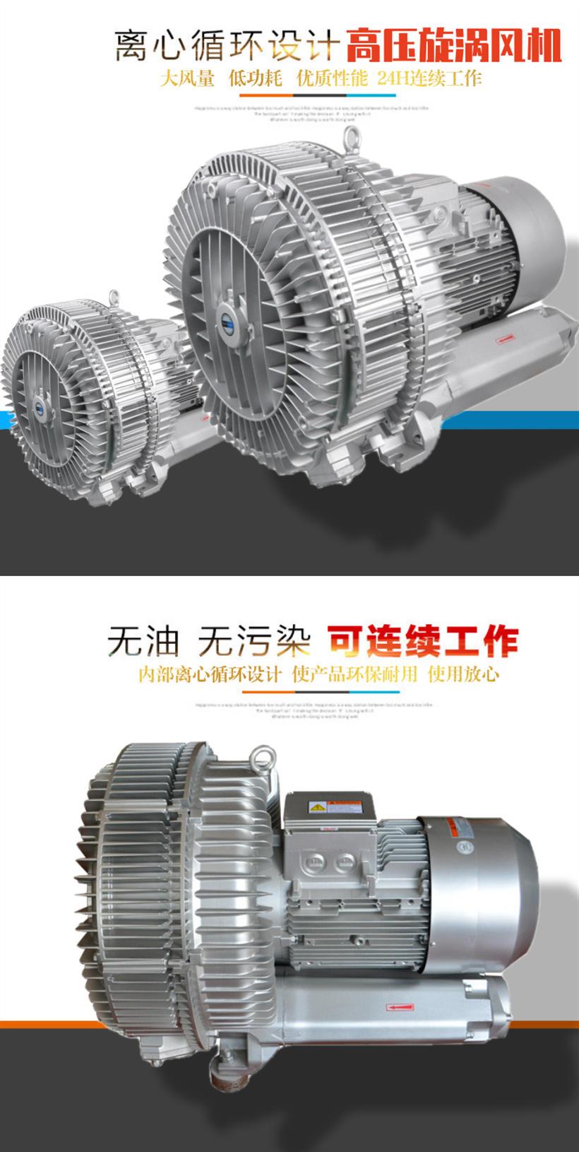 厂家3KW高压风机漩涡气泵 注塑机高压漩涡鼓风机示例图2