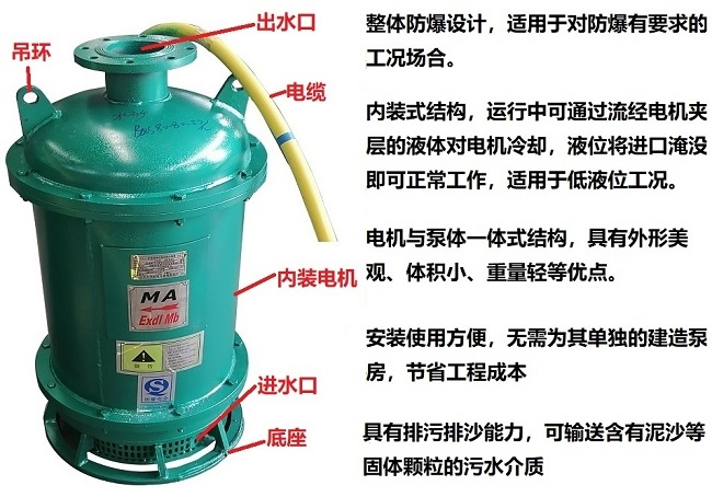 BQS防爆潜水泵结构特点