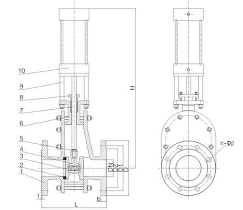 Z644TC陶瓷仓泵透气阀图
