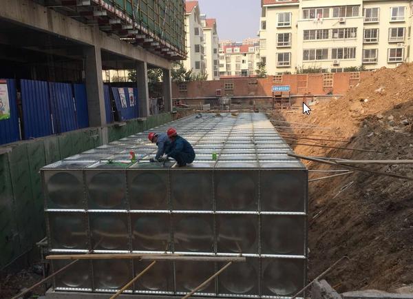 河南濮阳108m3地埋式箱泵一体化消防泵站