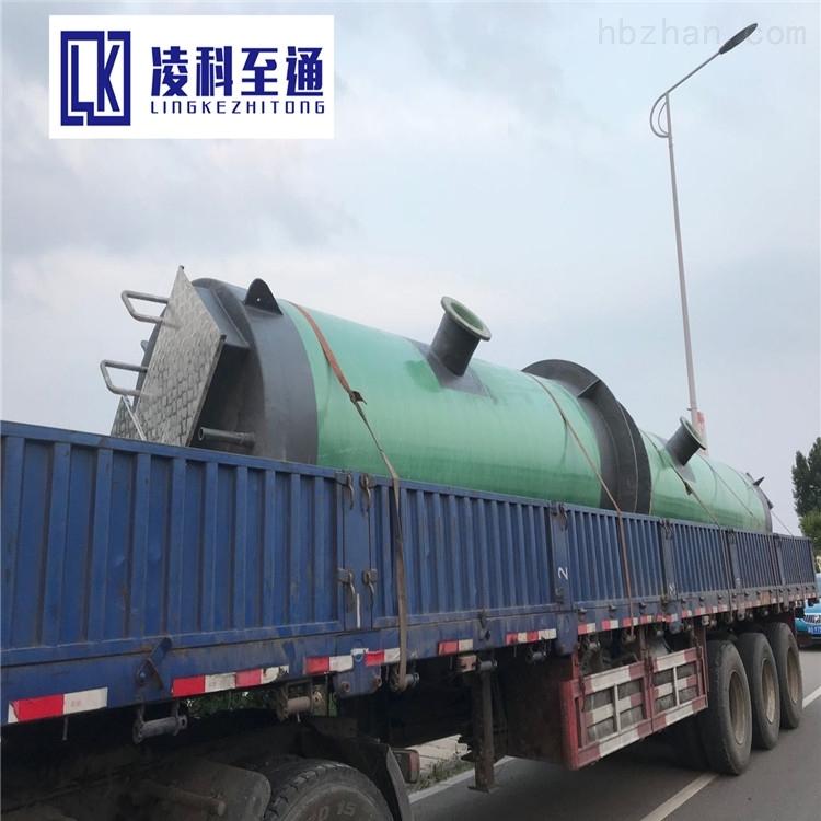 河源污水一体化提升泵站安装环境环保