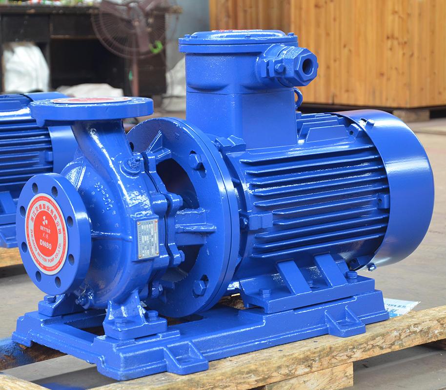 喜之泉ISWB80-200A卧式管道离心泵,防爆型离心泵,管道离心泵示例图3