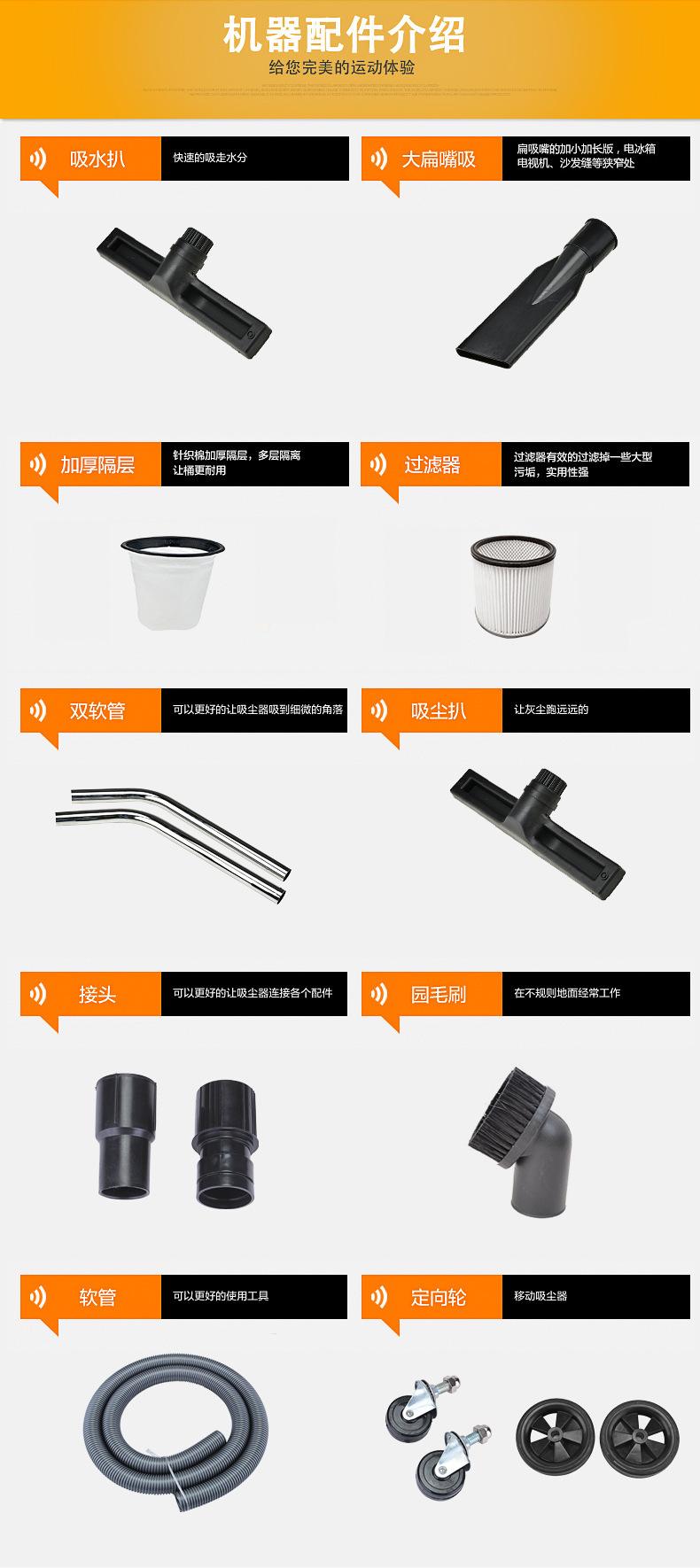 厂家吸石墨粉尘吸尘器 移动式脉冲反吹工业吸尘器 铝屑吸尘器示例图12
