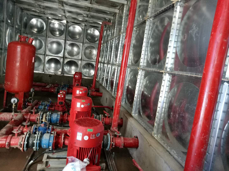天津容积216吨地上箱泵一体化消防增压设备
