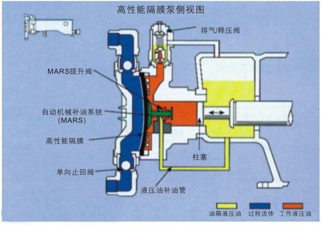液压隔膜计量泵结构图