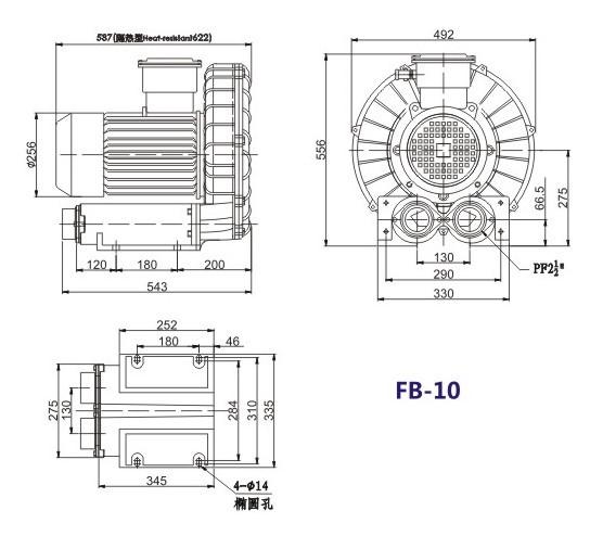 7.5kw防爆高压风机,易燃易爆气体输送防爆气泵,防爆漩涡气泵 防爆高压风机示例图8