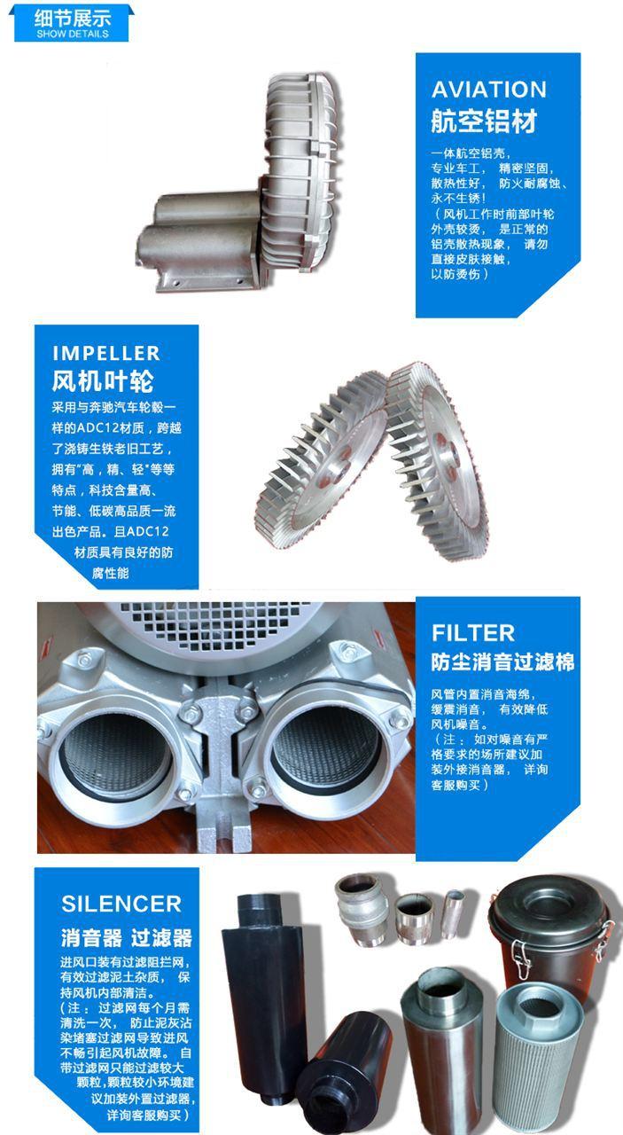 旋涡式气泵 高压旋涡风机 双叶轮旋涡式气泵示例图8