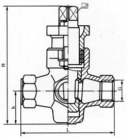 三通内螺纹旋塞阀结构示意图
