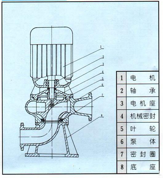 LW立式污水泵結構圖