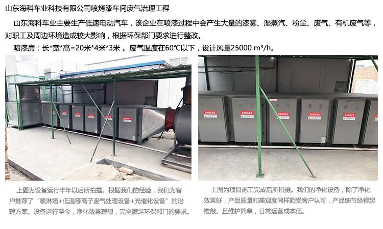 光催化有机废气净化器工程实例2