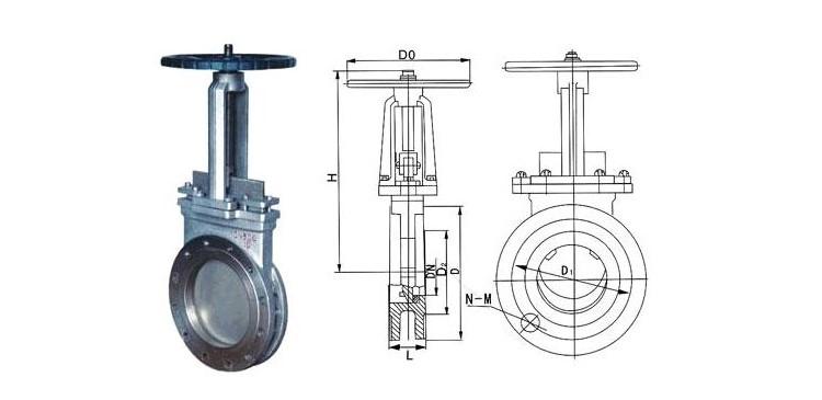 刀型闸阀结构图