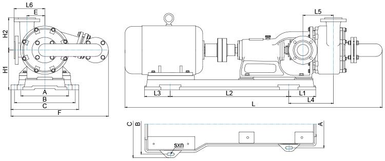 HFM-II型雙級泵的外形圖