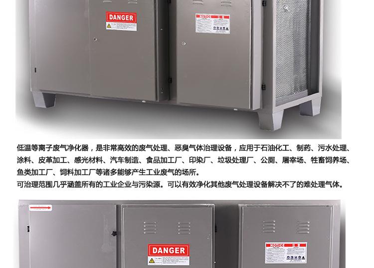 草木绿有机废气处理设备介绍——静电式工业油烟净化器