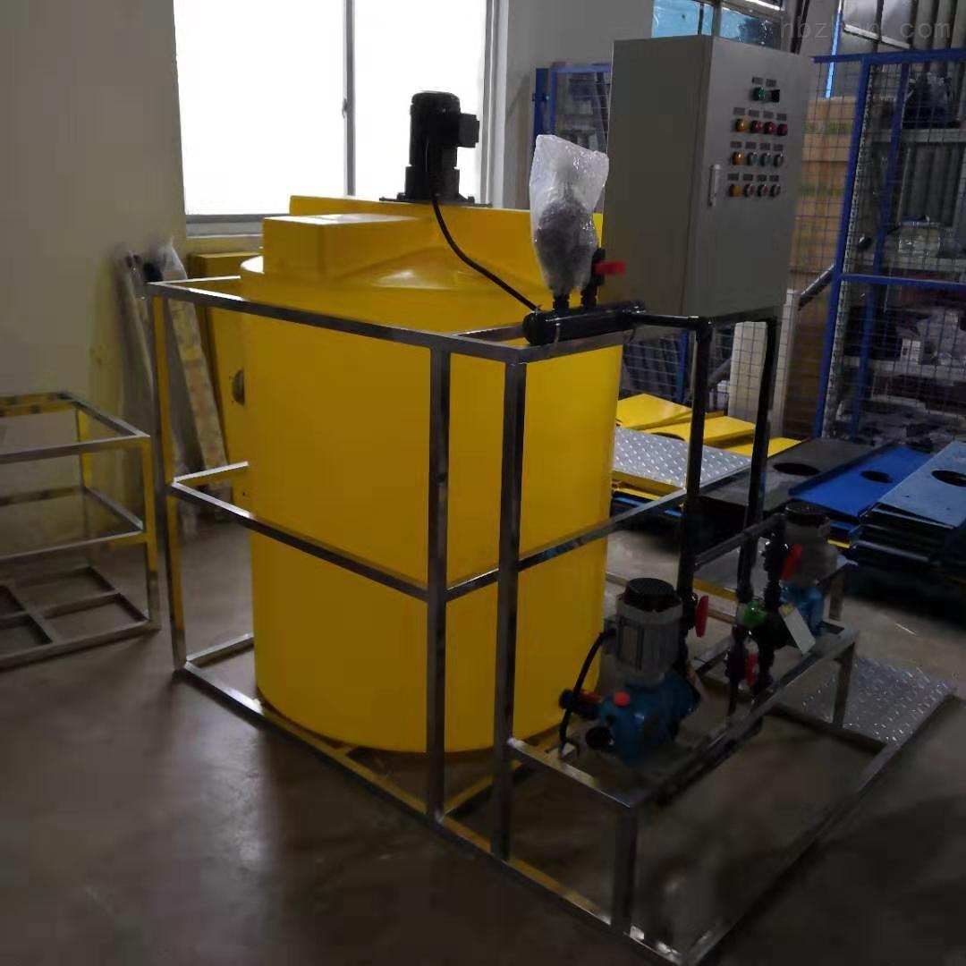 谦源1吨塑料加药箱 化工溶药装置