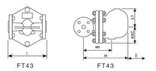 FT43H杠杆浮球式疏水阀图