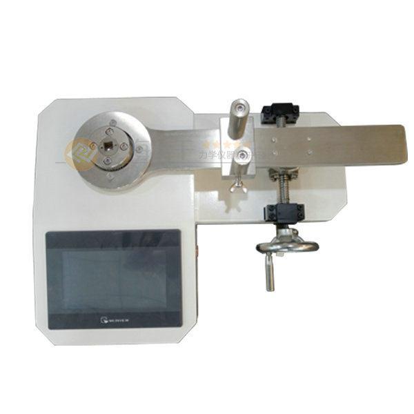 本司生产销售的SGCMY系列扭力工具检定台(也叫扭矩扳子测试设备)是一款用于校验各种扭力扳手的测试仪器,本司这款扭力工具检定台用户设定上限值,根据需要自由设定,达到上限值即自动声光提示,上限值不高于满量程。  扭力工具检定台图片