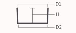 细胞培养板孔径尺寸示意图