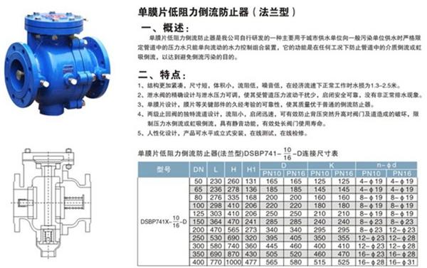 <strong>单膜片低阻力倒流防止器</strong>图2